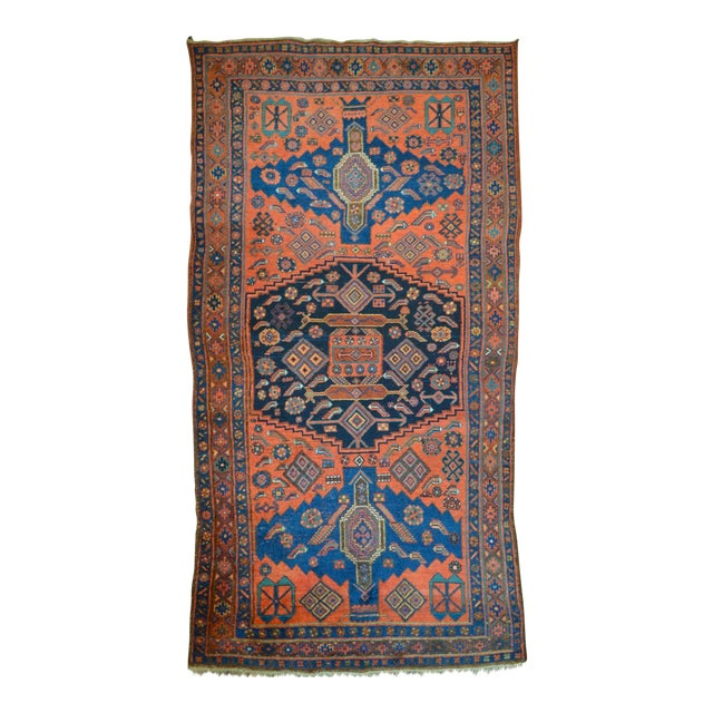 "Antique Persian Bidjar Long Rug - 4'5"" x 8'3"" - Image 1 of 9"