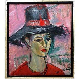 Woman in a Hat by Doris Jackel