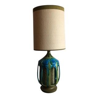 Mid-Century Atomic Drip Glaze Table Lamp