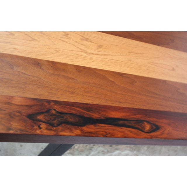 Directional Mixed-Wood Dining Table by Milo Baughman - Image 2 of 11
