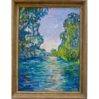 Martha Holden After Monet, Giverny River Painting