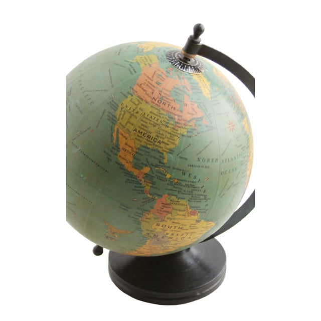 Small Globe on Wooden Base - Image 2 of 2