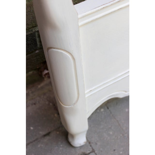 French Provincial Painted White Full Bedframe - Image 7 of 7