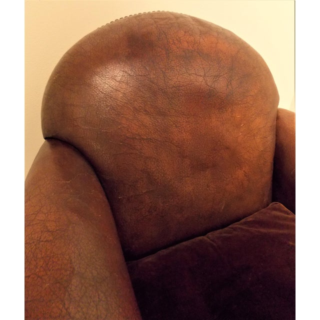 French Vintage Leather Club Chair - Image 4 of 7