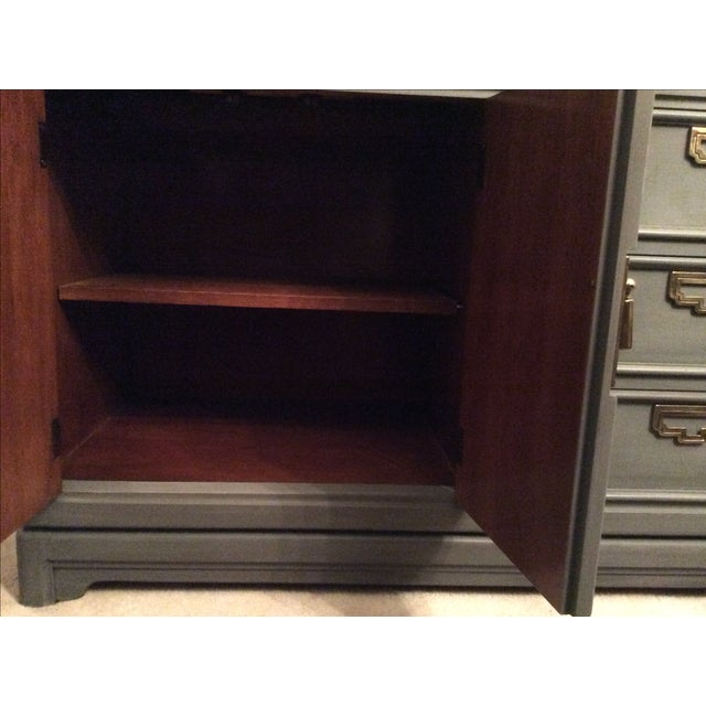 Vintage Thomasville Grey Distressed Asian Credenza - Image 8 of 8