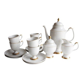 Gold Rim Coffee/Tea Set - Service For 6