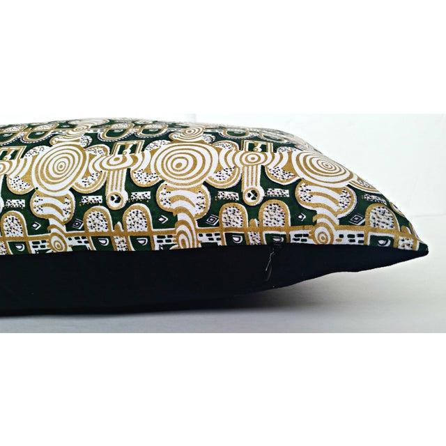 Emerald & Gold African Print Lumbar Pillow - Image 2 of 3