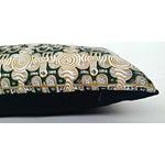 Image of Emerald & Gold African Print Lumbar Pillow