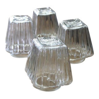 Vintage Glass Light Shades - Set of 4