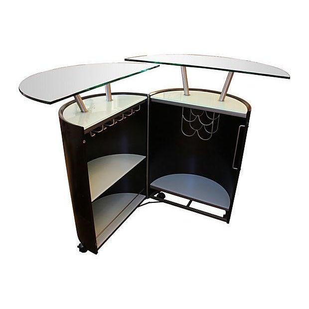Modern Expanding Bar Cabinet - Image 3 of 5
