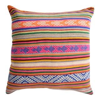 Boho Striped Pink & Navy Manta Pillow