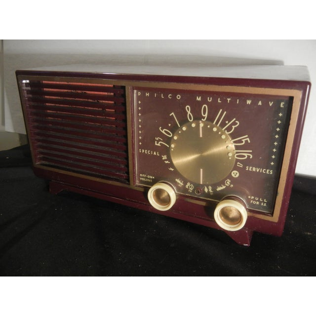 Vintage 1950's Art Deco Clock Radio | Chairish