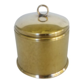 Petite Vintage Brass Container With Lid by G Cespedes Chile