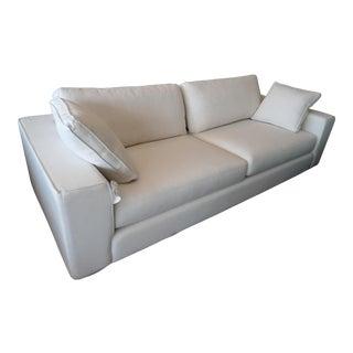 Quartz White Sofa With 2 Square Arm Pillows