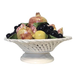 Italian Porcelain Fruit Topiary