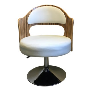 Mid-Century Modern Cream Arm Chair