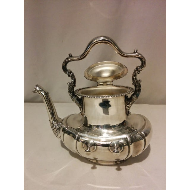 American Silverplate Teapot w/ Stand & Burner - Image 8 of 11
