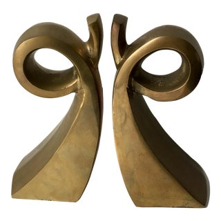 Mid-Century Modern Abstract Bookends - A Pair