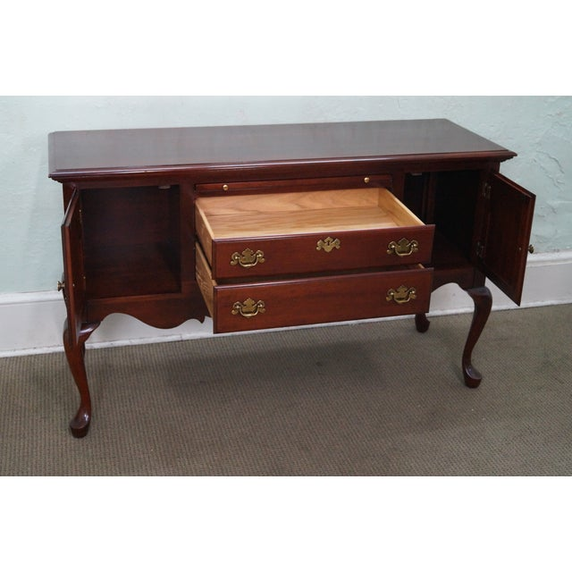 colonial solid cherry queen anne server sideboard chairish. Black Bedroom Furniture Sets. Home Design Ideas