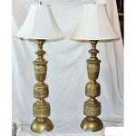 Image of Tall Japanese Lamps - Pair