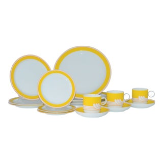 Rosenthal Ambrogio Pozzi Exotic Yellow Studio Dinner Set - Set of 15