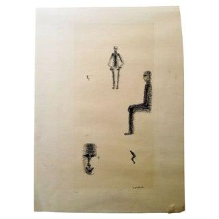 Barbara Lekberg Original Charcoal Study