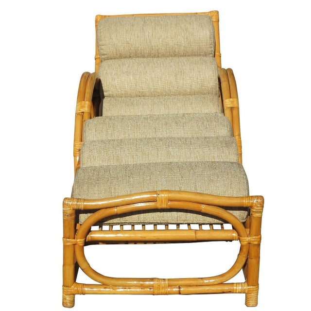Half moon rattan chaise longue chair chairish for Chaise longue for sale ireland