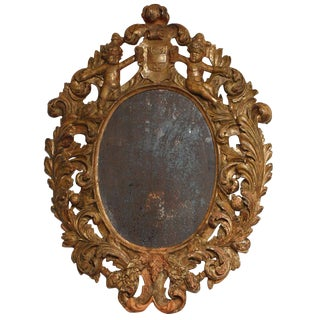 Highly Carved Italian Mirror