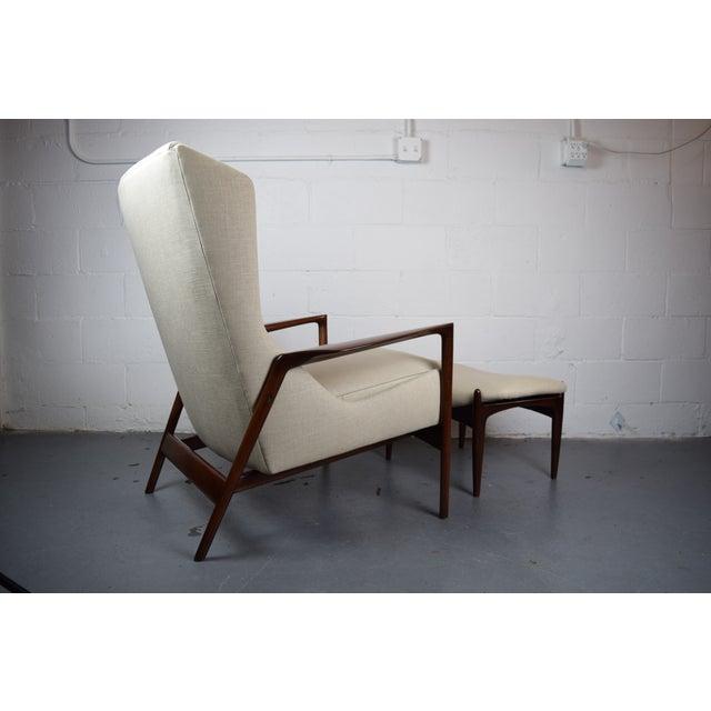 Kofod-Larsen Mid Century Lounge Chair & Ottoman - Image 5 of 6