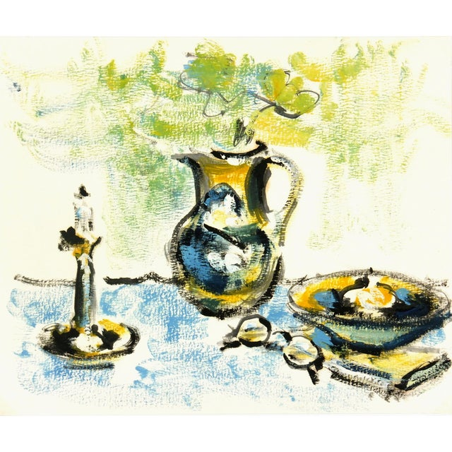 1960 Vintage French Still Life Study Painting - Image 1 of 3