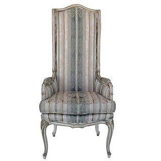 Italian Florentine Accentuated High Back Chair