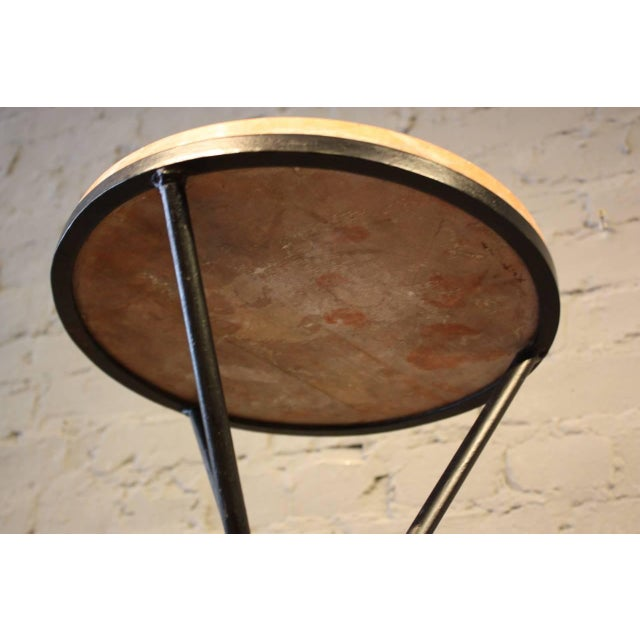 French Marble-Top Table with Iron Base - Image 6 of 7