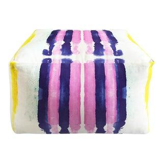 Kristi Kohut Sailor Stripes Pouf