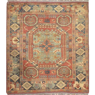 "Pasargad NY Kazak Design Hand-Knotted Area Rug - 6'2"" X 7'"