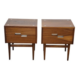 American of Martinsville Walnut Nightstands - A Pair