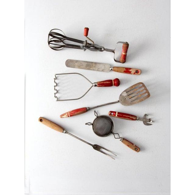 Vintage Red Kitchen Utensils Set Of 7 Chairish