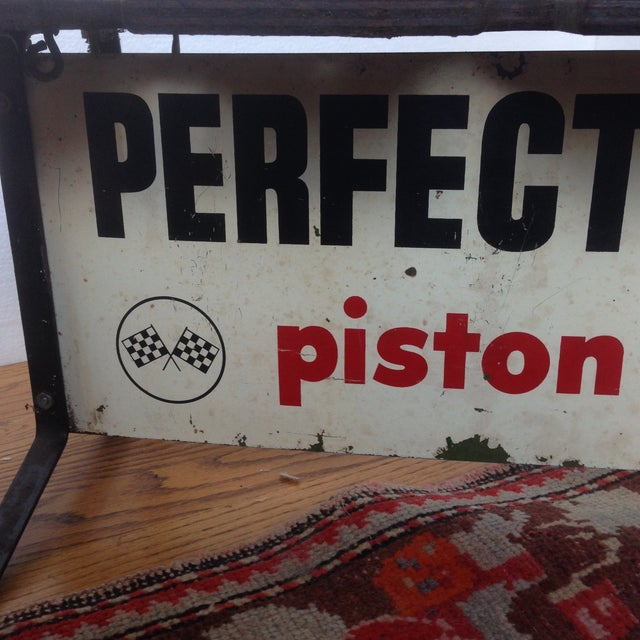 Vintage Piston Rings Sign Industrial Bench - Image 4 of 6
