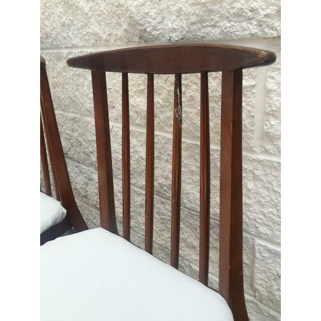 Mid-Century Oak Dining Chairs - Set of 4 - Image 5 of 7