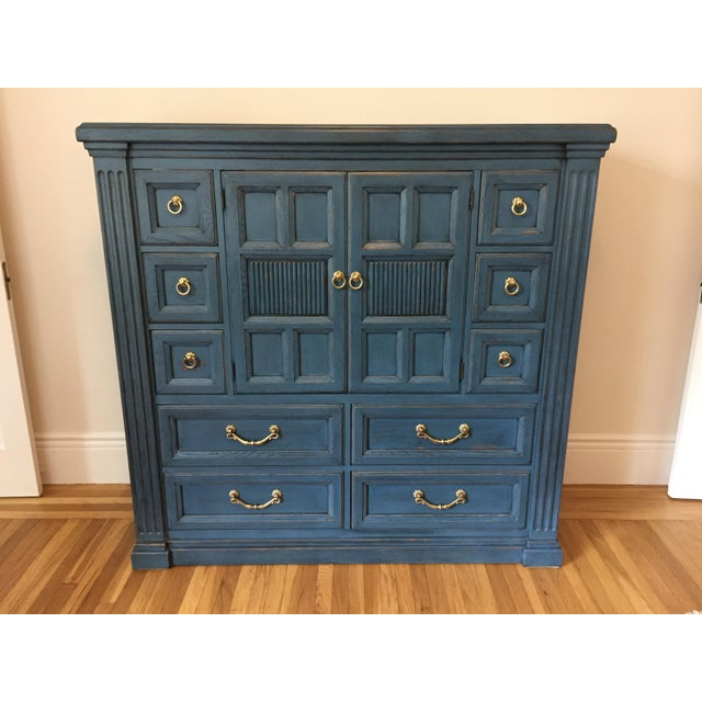 Drexel Heritage Blue Armoire - Image 2 of 11