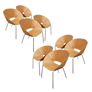 Wolfgang C.R. Mezger Lipse Chairs - Set of 8