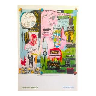 1983 Jean Michel Basquiat Rare Offset Lithograph Print Poster
