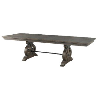 Dark Wood Stained Extendable Dining Table