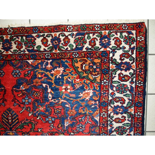 1970s Hand Made Vintage Persian Mashad Rug - 4′7″ × 6′4″ - Image 10 of 10