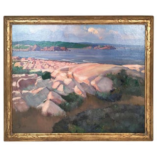 Donald Barton Painting of the Rocky Gloucester Massachusetts Coast, circa 1930s