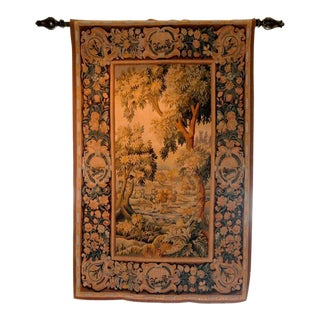 1920s Handmade French Aubusson Wool Tapestry
