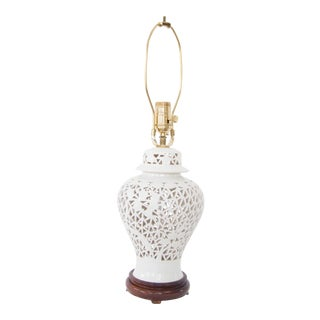 Blanc De Chine Urn Form Table Lamp