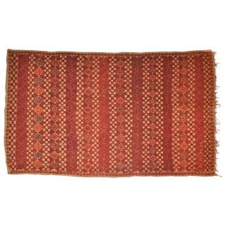 "Vintage Moroccan Wool Straw Rug - 5'10"" x 8'10"""