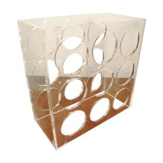 Mid-century Modern Acrylic Wine Rack