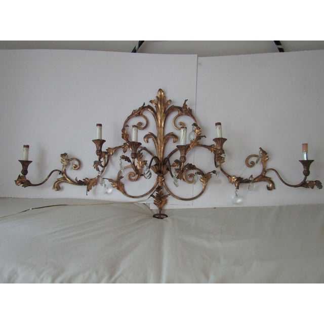 Antique Gold French Luciano Leaf Sconce - Image 2 of 8
