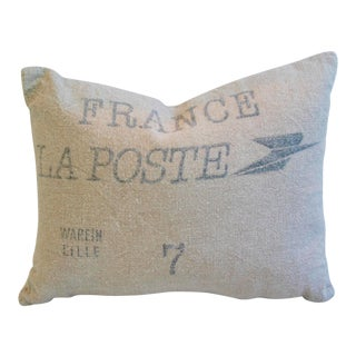 French La Poste Textile Sack Down & Feather Pillow